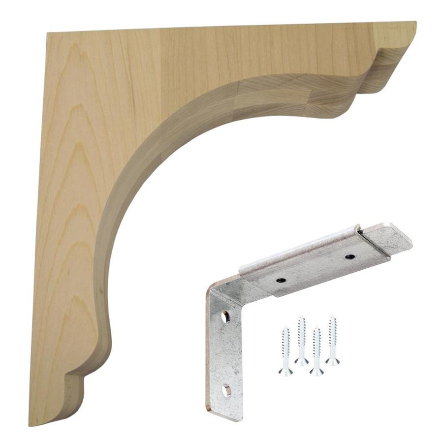 Shop Federal Brace Scalloped Bar Bracket Wood Corbel Kit