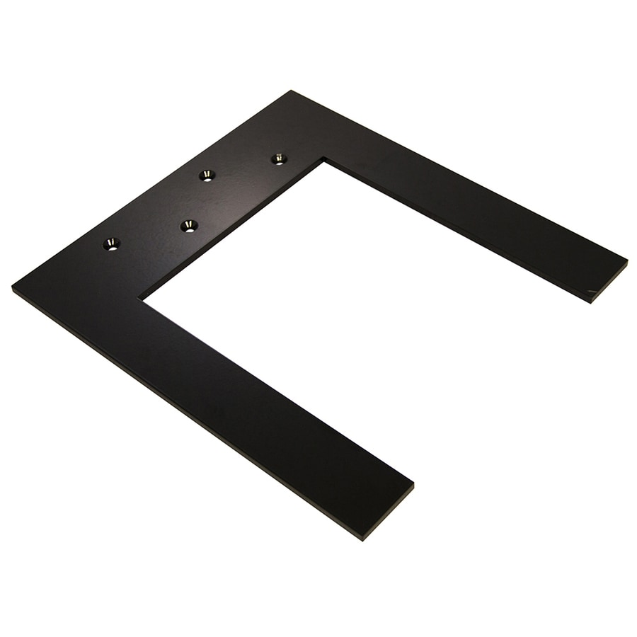 Federal Brace Lincoln Top Plate Hidden Support 0.25-in x 12-in x 15.25-in Black Countertop Support Bracket