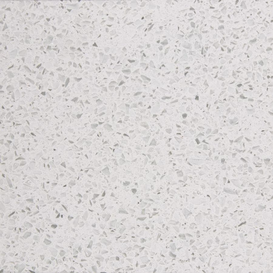 White Diamond Quartz Kitchen Countertop Sample Product Photo