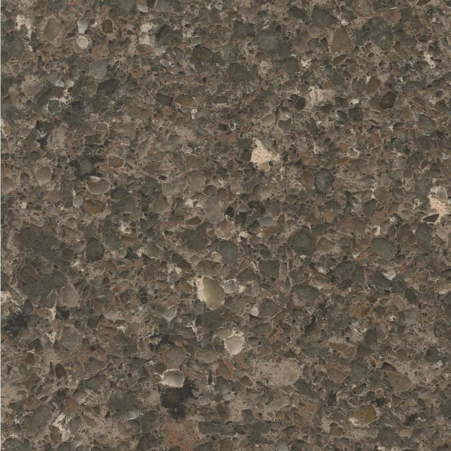 Shop silestone mountain mist quartz kitchen countertop for Silestone o granito