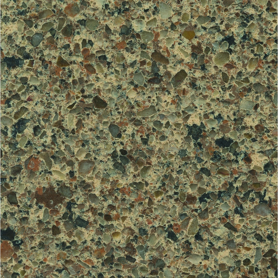 Shop silestone sienna ridge quartz kitchen countertop for Silestone o granito