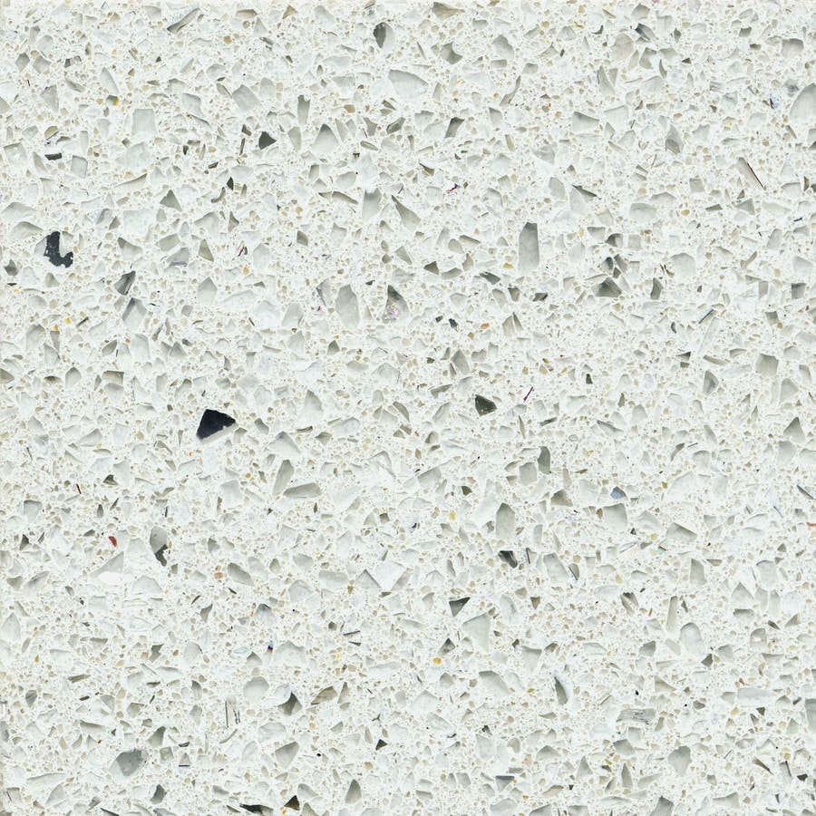 Shop Silestone Stellar Snow Quartz Kitchen Countertop Sample at Lowes ...