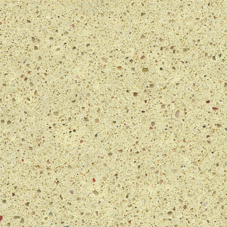 Shop silestone urban cream quartz kitchen countertop for Silestone o granito
