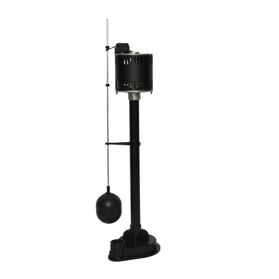 Utilitech 0.33-HP Thermoplastic Pedestal Sump Pump