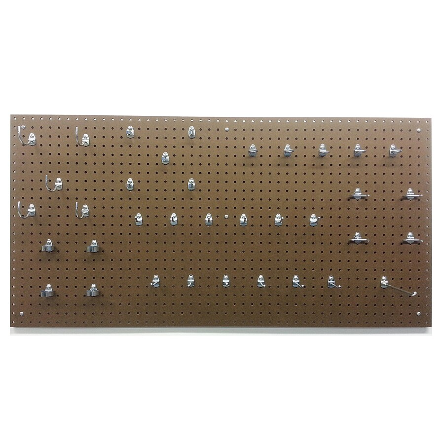 DuraBoard Tempered Hardwood Hardboard Pegboard (Common: 24-in x 48-in; Actual: 24-in x 48-in)