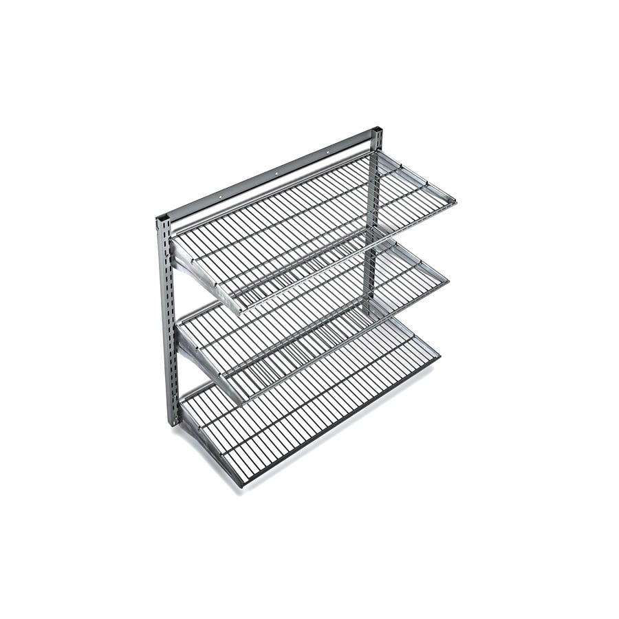 Shop storability 34 in w x 32 in h x 16 in d steel wall mounted shelving at - Wall metal shelf ...