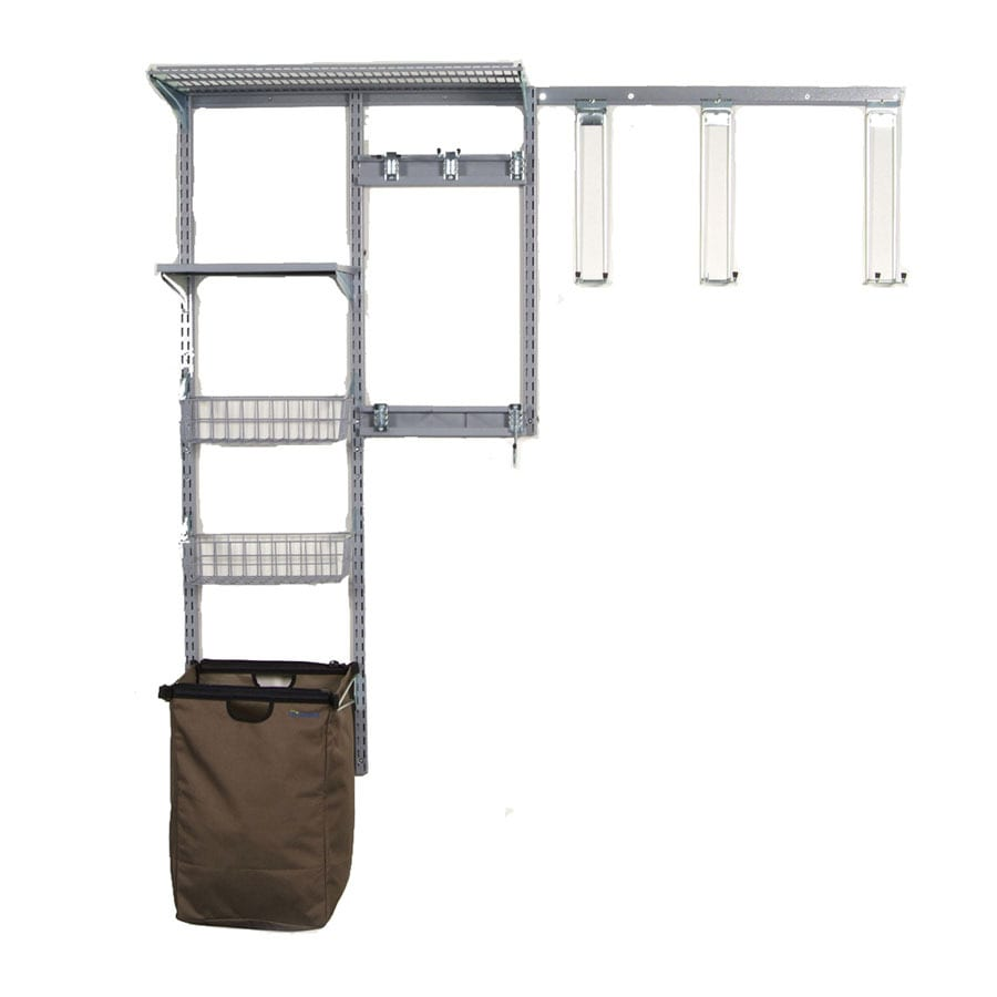Storability 66-ft W x 16-in D Gray/Epoxy Coated Steel Fixed Mount Shelving Kit