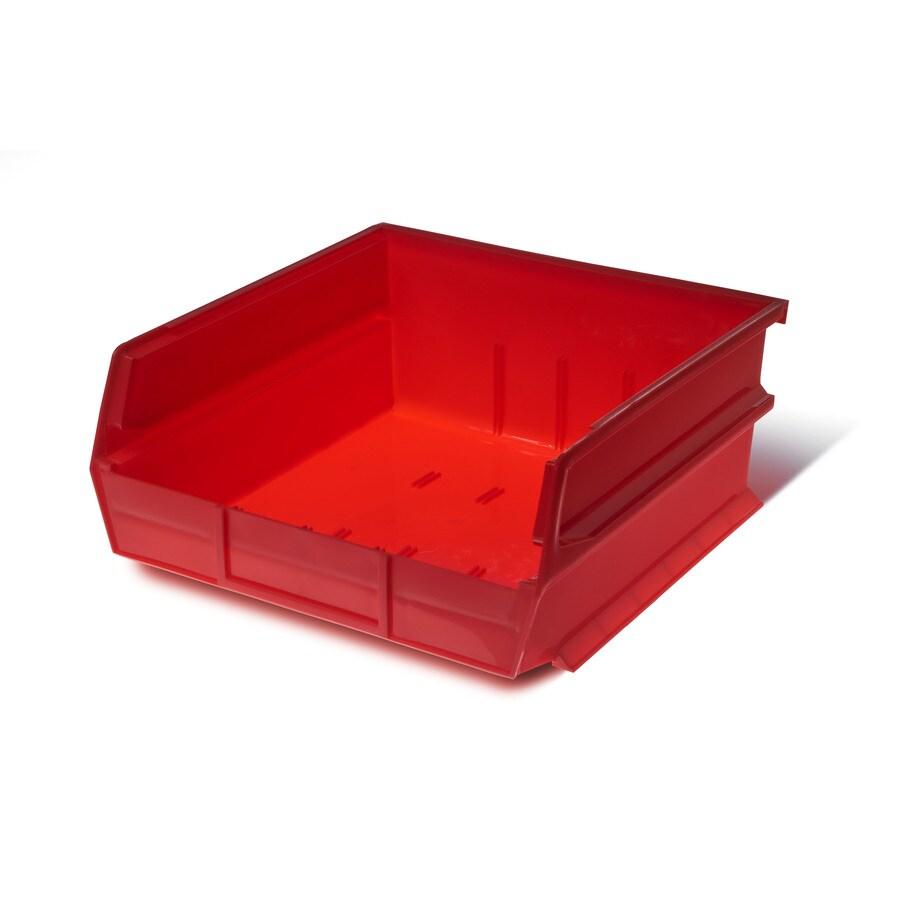 LocBin 6-Pack Triton Products 11-in W x 5-in H x 10.87-in D Red Plastic Bins