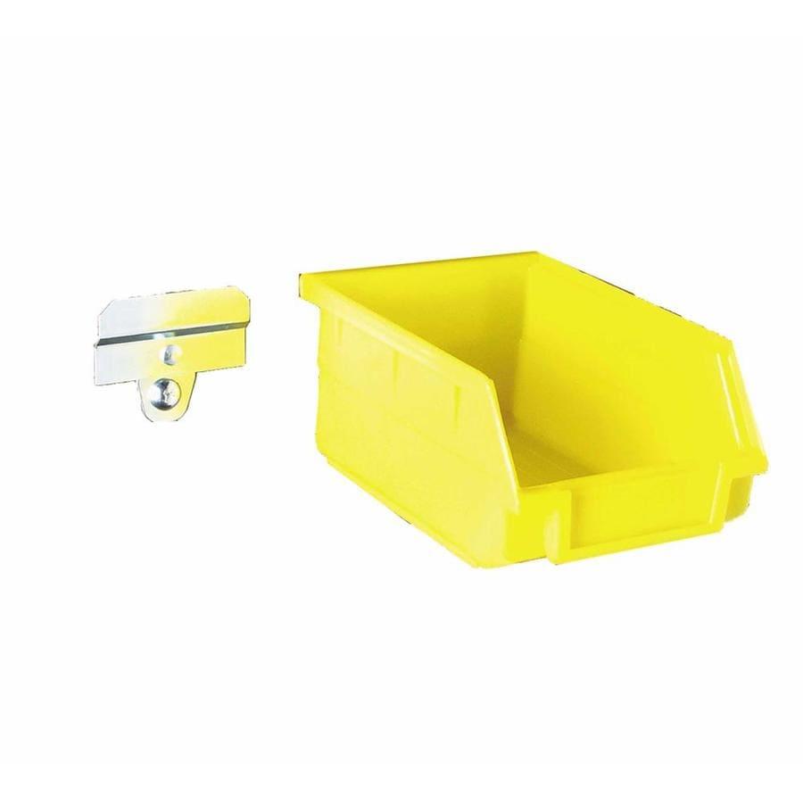 LocBin 4.125-in W x 3-in H x 5.375-in D Yellow Plastic Bin