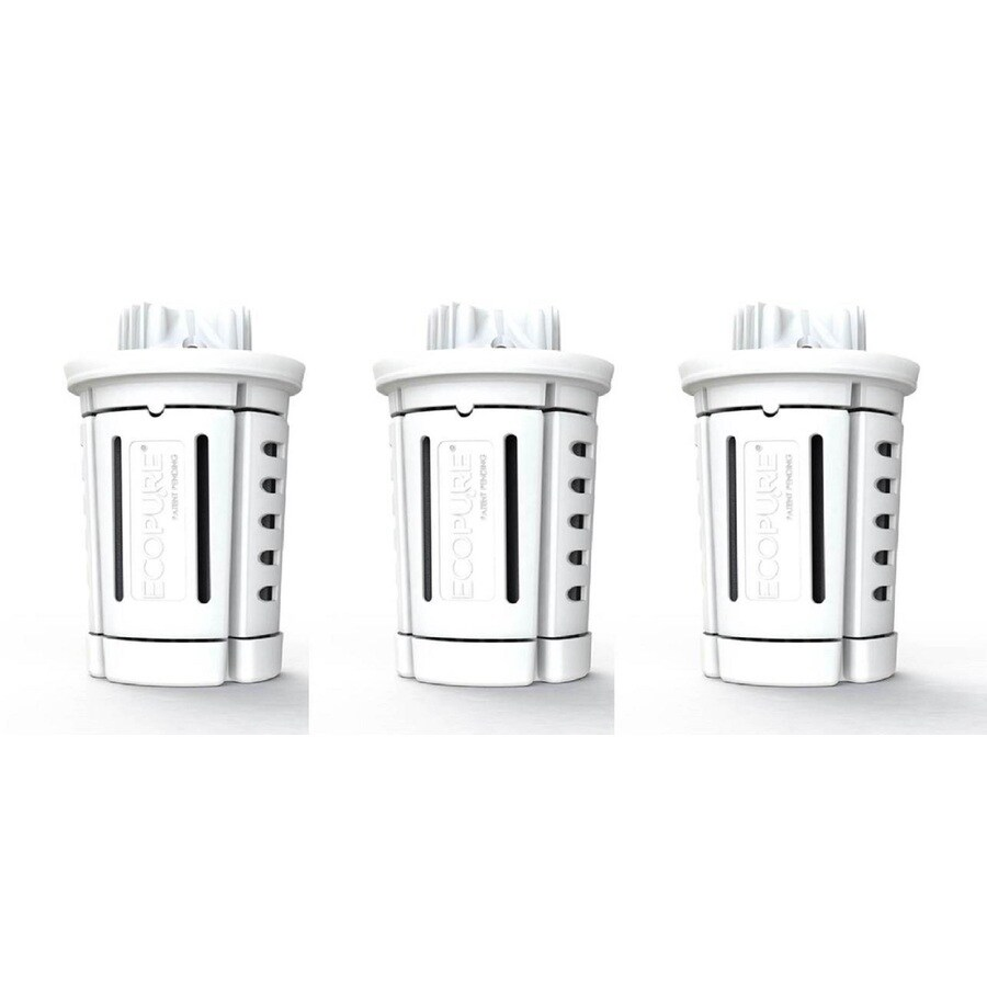Ecopure 3-Pack Brita and Most Other Brands Pitcher Replacement Filter