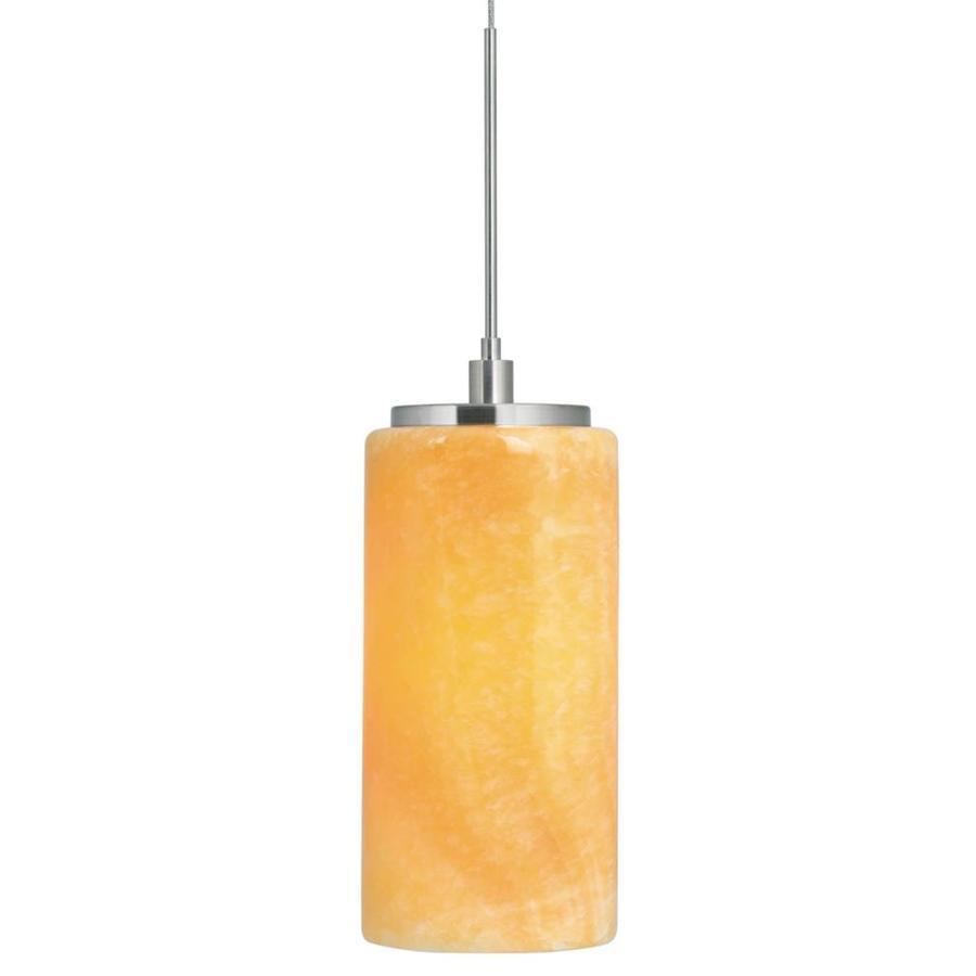 Stone 7.5-in Polished Nickel Mini Tinted Glass Pendant