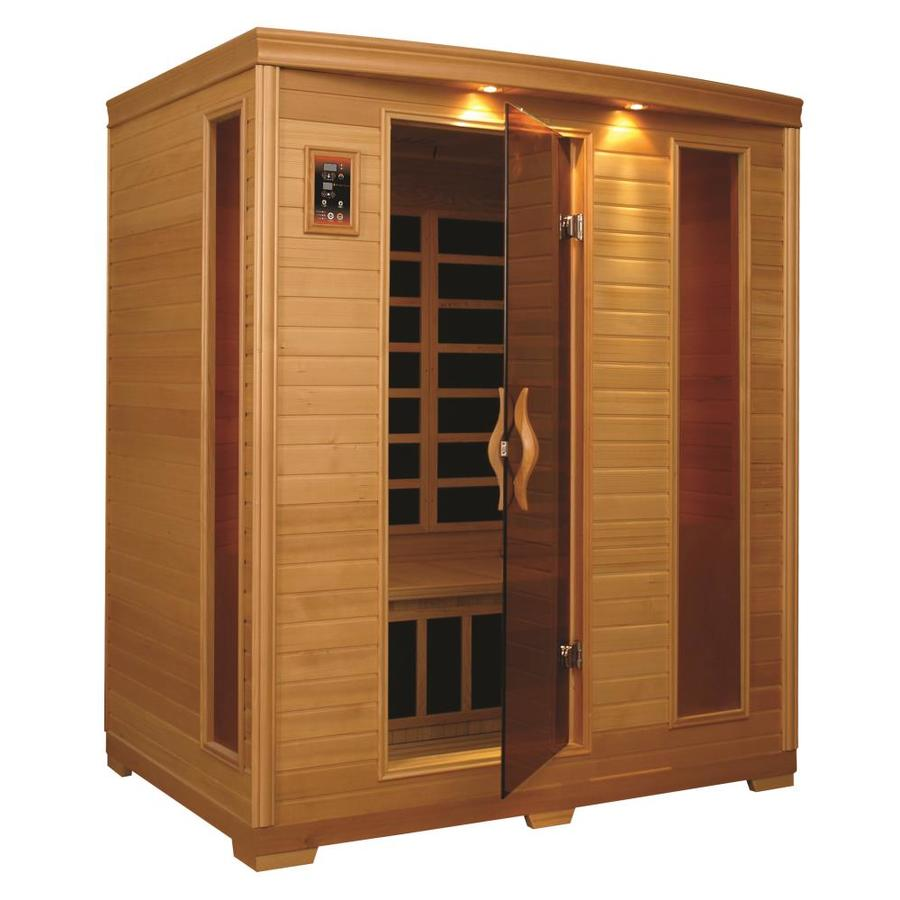 Better Life 77-in H x 64-in W x 46-in D Hemlock Fir Wood Indoor Sauna
