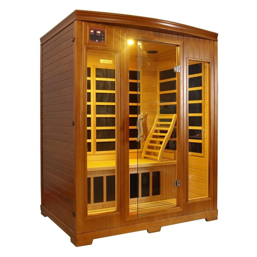 Better Life 77-in H x 61-in W x 44-in D Hemlock Fir Wood Indoor Sauna