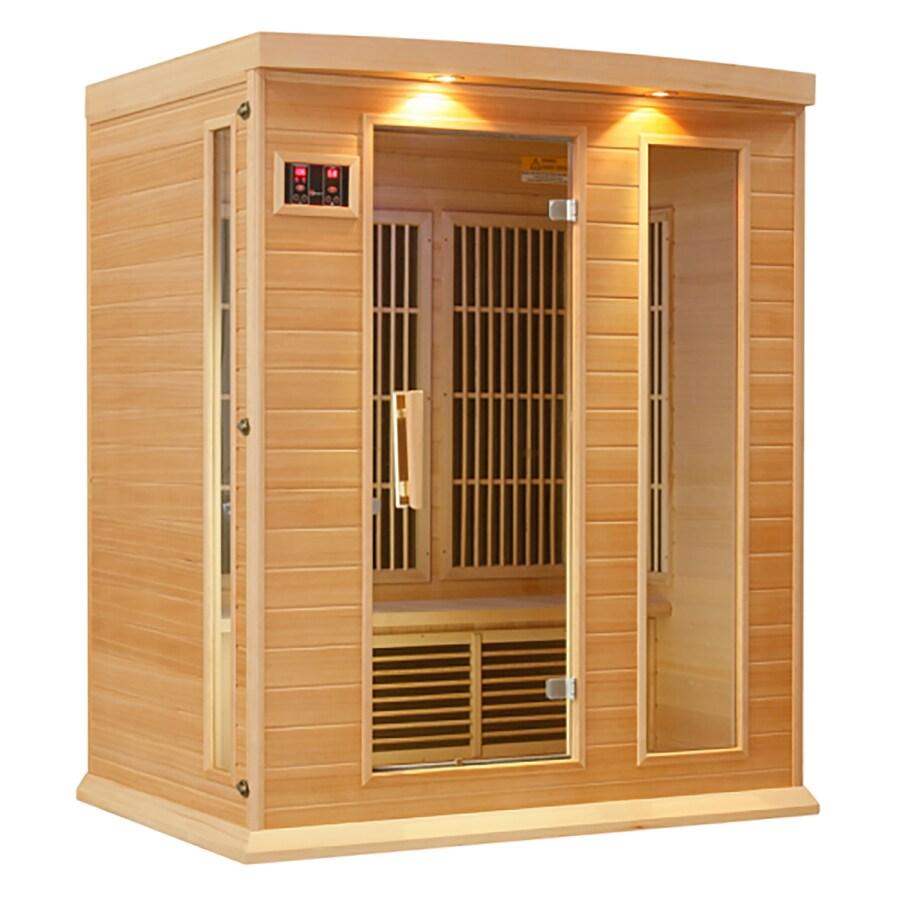 Better Life 75-in H x 64-in W x 44-in D Hemlock Fir Wood Indoor Sauna