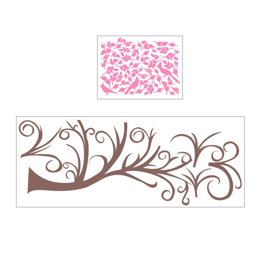 Sissy Little 35-Pack Floral Wall Stickers