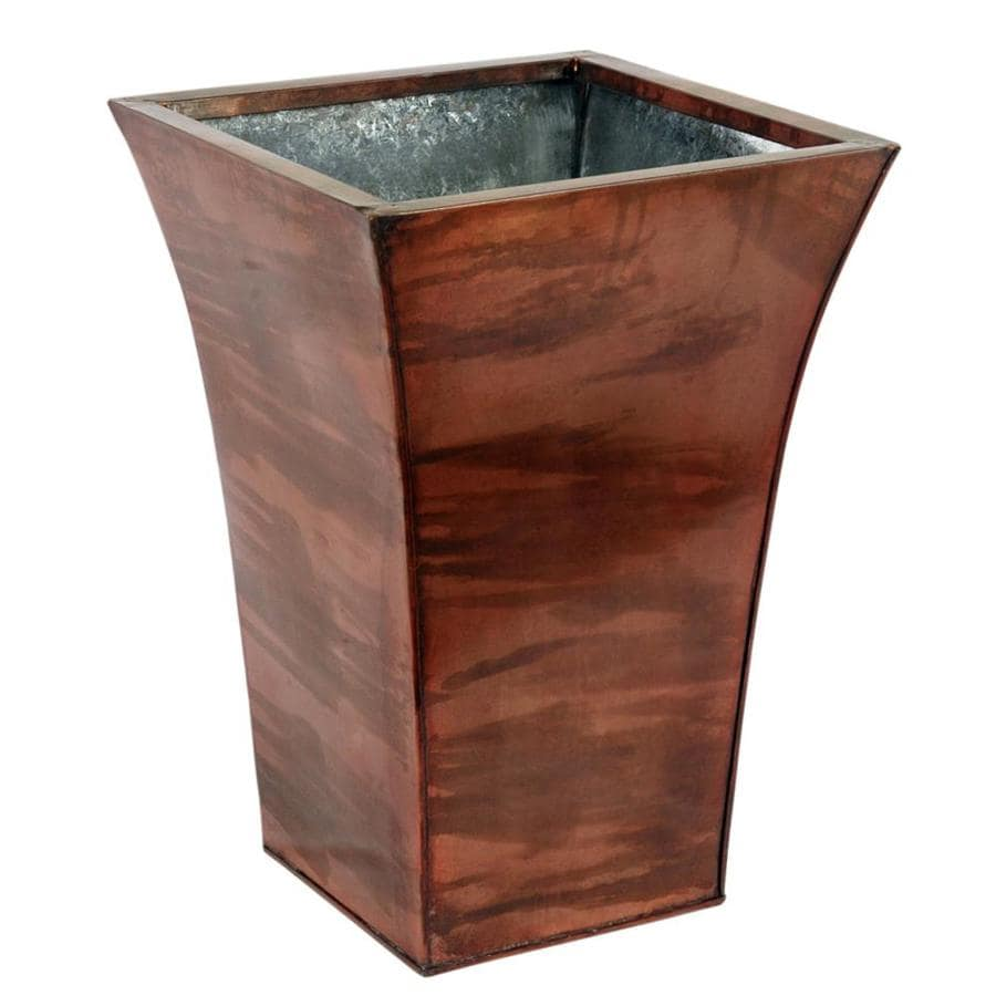 Style Selections 5.8-Gallon Antique Copper Trash Can