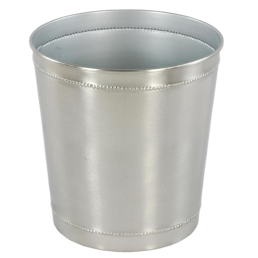 Style Selections 2.65-Gallon Pewter Metal Trash Can