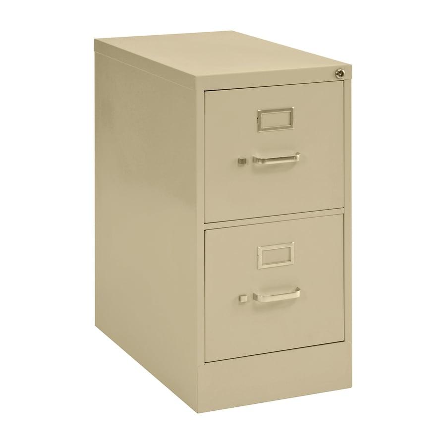 edsal Sandusky Vertical Files Putty 2-Drawer File Cabinet