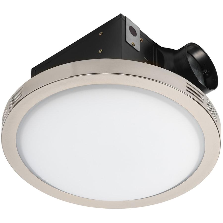 Utilitech Ventilation Fan 2 Sone 90 Cfm 4 Es In 1 Bathroom Fan In The Bathroom Fans Heaters Department At Lowes Com
