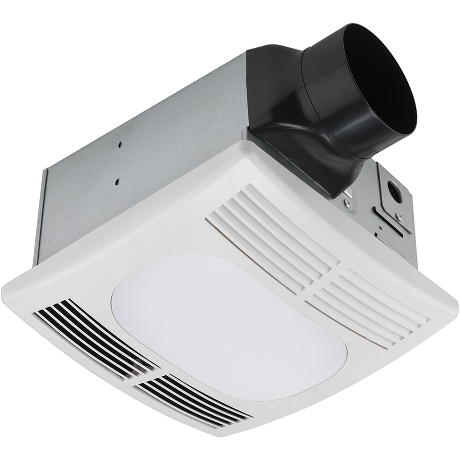 Shop utilitech 1 5 sone 90 cfm white bathroom fan with - Recommended cfm for bathroom fan ...