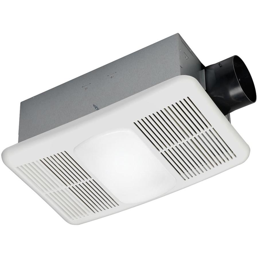 Utilitech 1.5-Sone 80-CFM White Bathroom Fan with Integrated Heater and Light