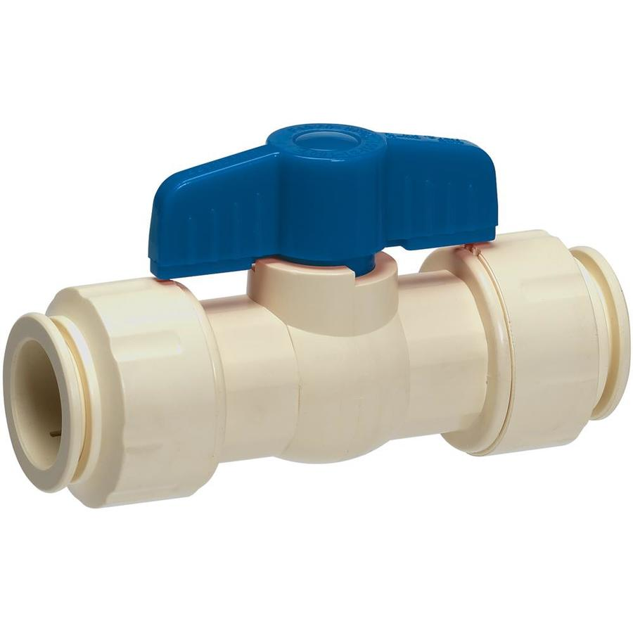 GripWerks 3/4-In Cpvc Push Fit In-Line Ball Valve