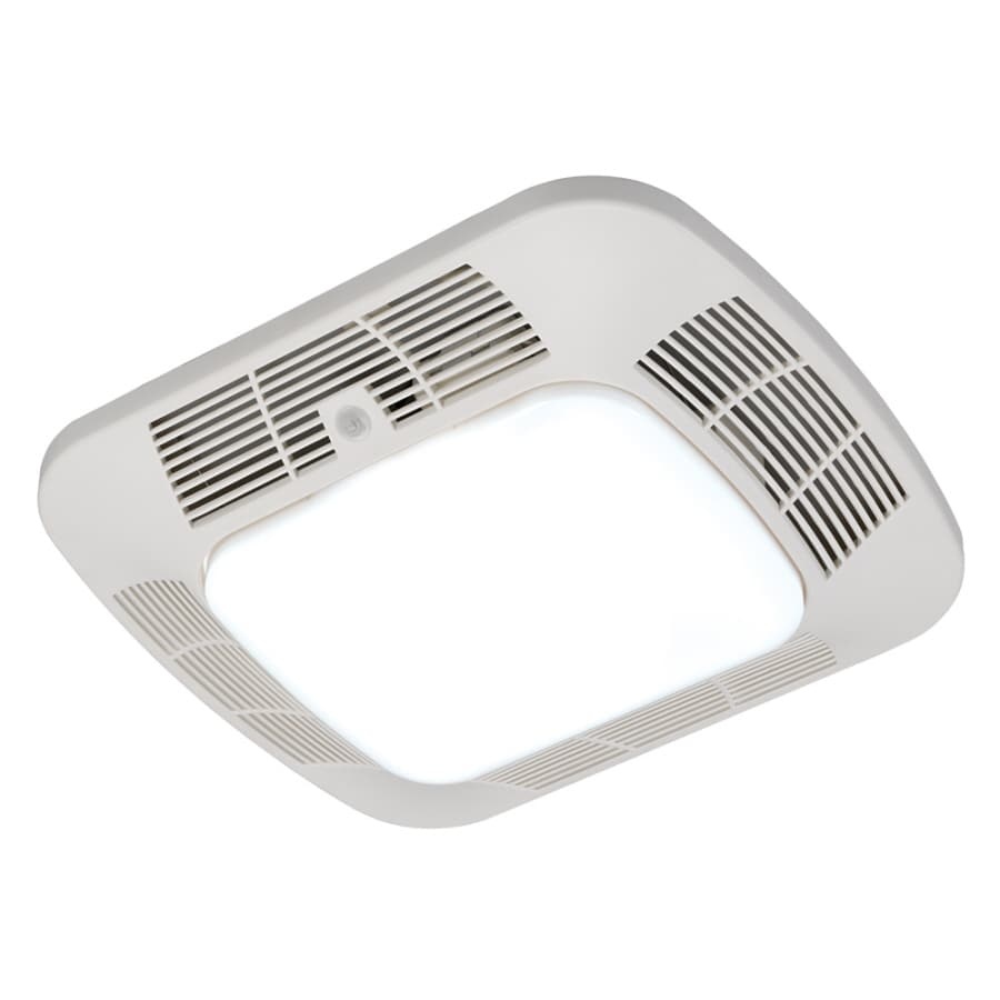 Harbor Breeze 1.2-Sone 110-CFM White Bathroom Fan with Light ENERGY STAR