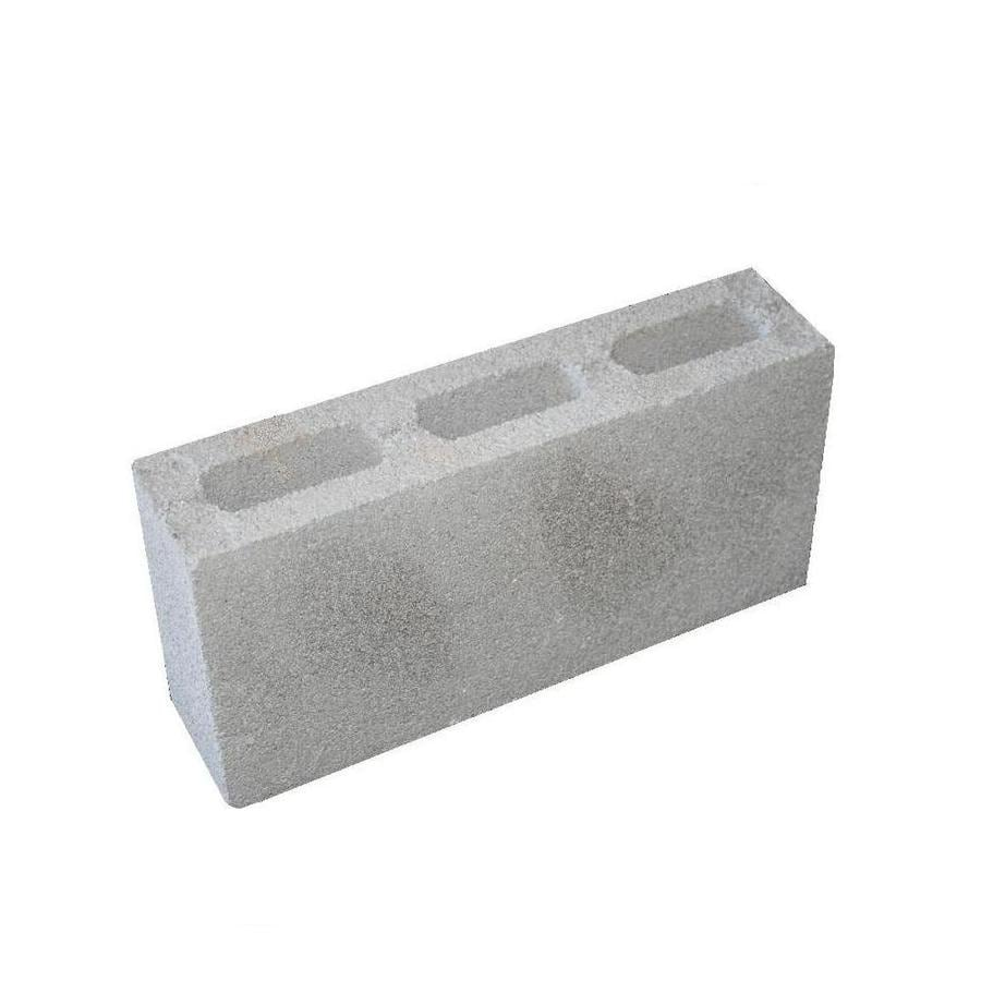 Concrete Fence Block (Common: 8-in x 4-in x 16-in; Actual: 7.625-in x 3.625-in x 15.625-in)