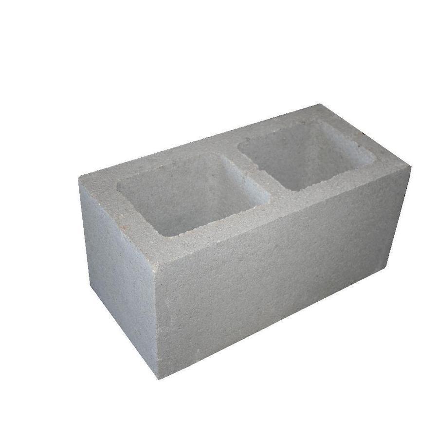 Standard Cored Concrete Block (Common: 8-in x 8-in x 16-in; Actual: 7.625-in x 7.625-in x 15.625-in)
