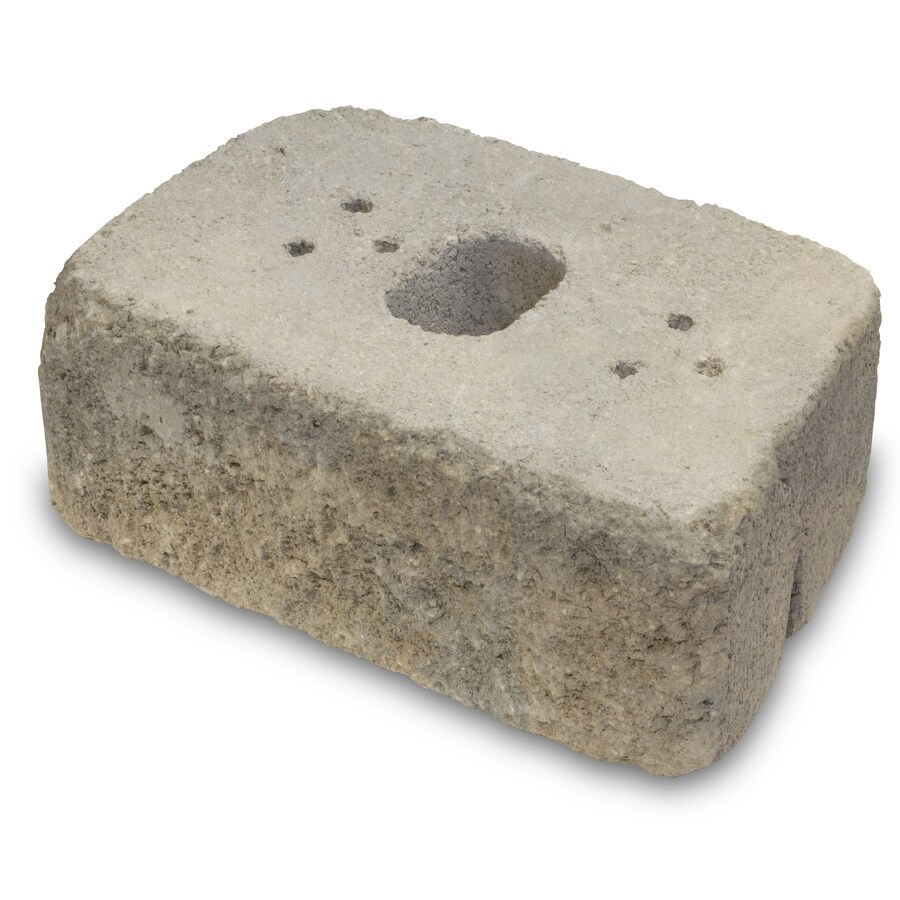 allen + roth Luxora Tan/Gray Country Manor Retaining Wall Block (Common: 16-in x 6-in; Actual: 16-in x 6-in)
