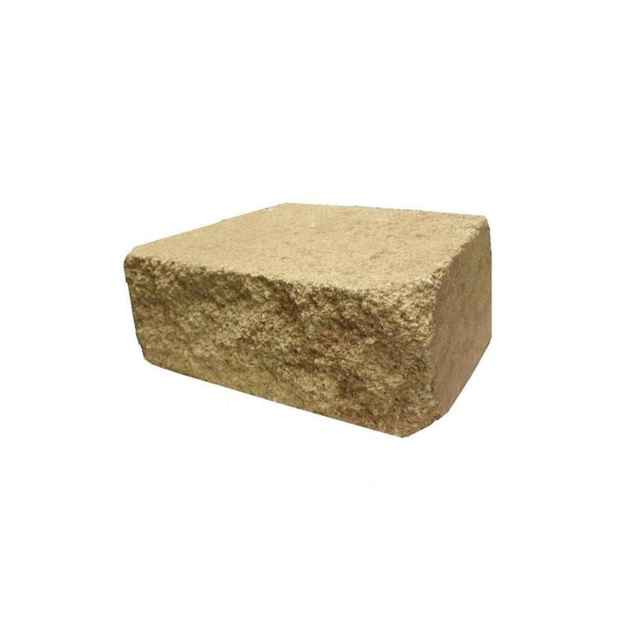 Sand/Tan Straight Concrete Retaining Wall Block (Common: 12-in x 4-in; Actual: 12-in x 4-in)