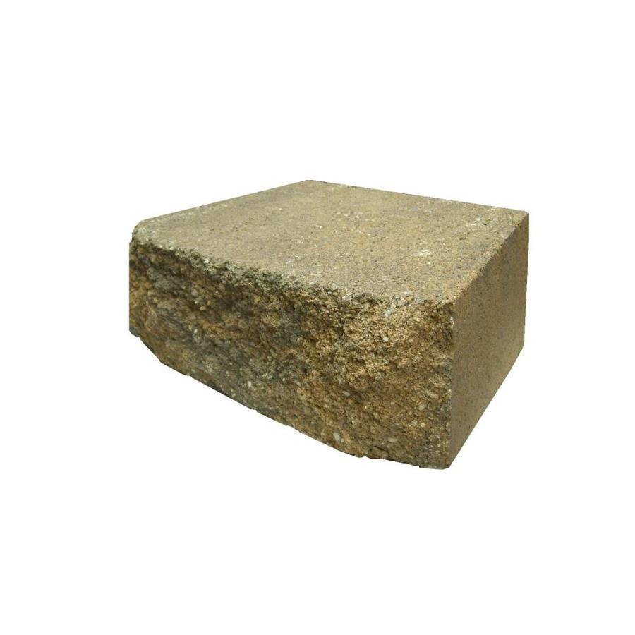 Buff/Charcoal Straight Concrete Retaining Wall Block (Common: 12-in x 4-in; Actual: 12-in x 4-in)