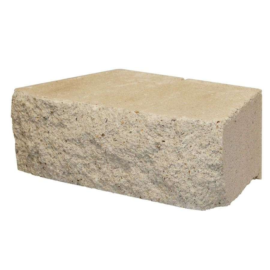 Limestone Straight Concrete Retaining Wall Block (Common: 12-in x 4-in; Actual: 12-in x 4-in)