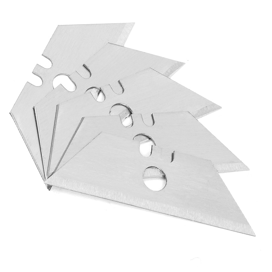 Blue Hawk 5-Pack 0.75-in Carbon Steel Straight Replacement Utility Blades