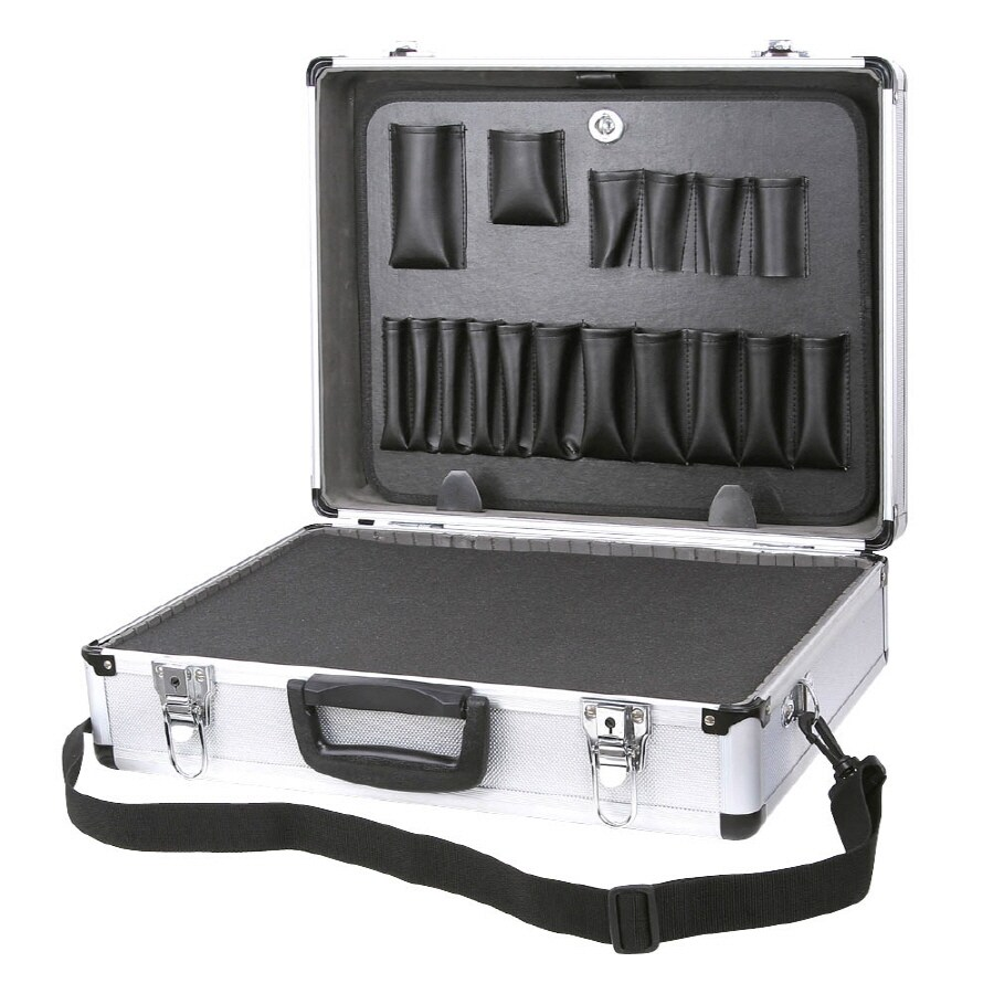 Task Force 20-in Silver Aluminum Lockable Tool Box