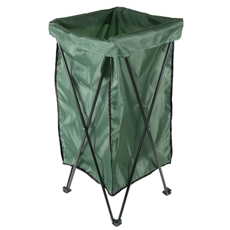 Garden Treasures Reusable Lawn and Leaf 35-in x 18-in Trash Bag Stand with Bag