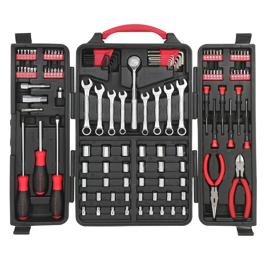 Task Force 140-Piece Standard (SAE) and Metric Combination Mechanic's Tool Set