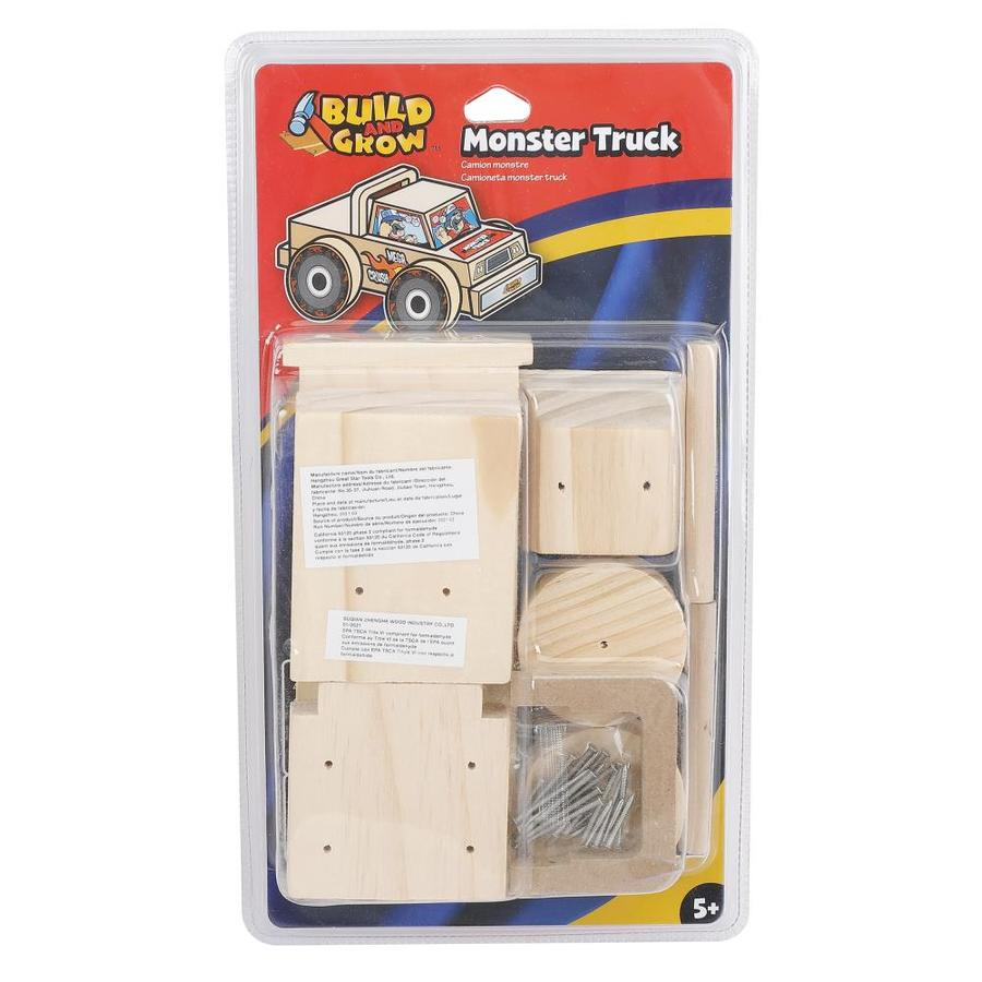 Build and Grow Kid's Beginner Woodworking Project Monster Truck Kit