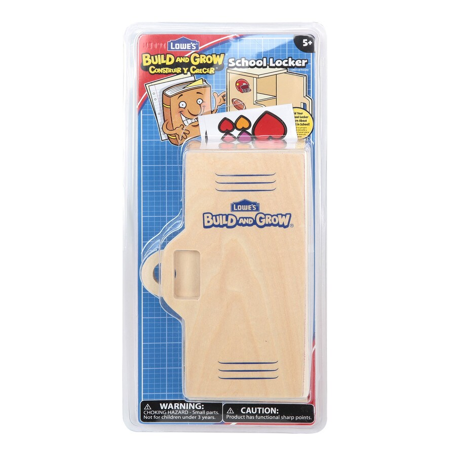 Build and Grow Kid's Beginner Woodworking Project School Locker Kit