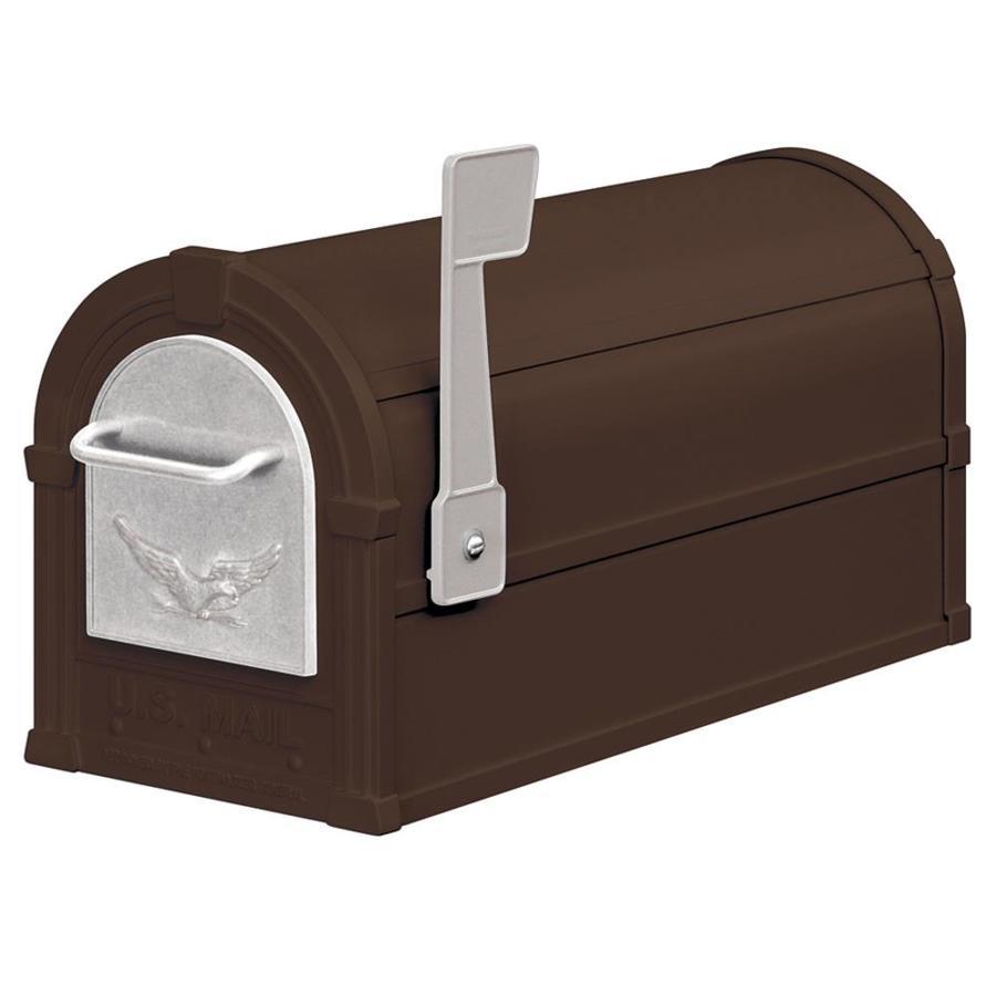 SALSBURY INDUSTRIES 4800 Series 7.5-in x 9.5-in Metal Bronze Post Mount Mailbox