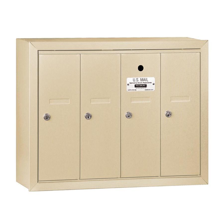 SALSBURY INDUSTRIES 3500 Series 24.25-in x 19-in Metal Sandstone Lockable Wall Mount Cluster Mailbox