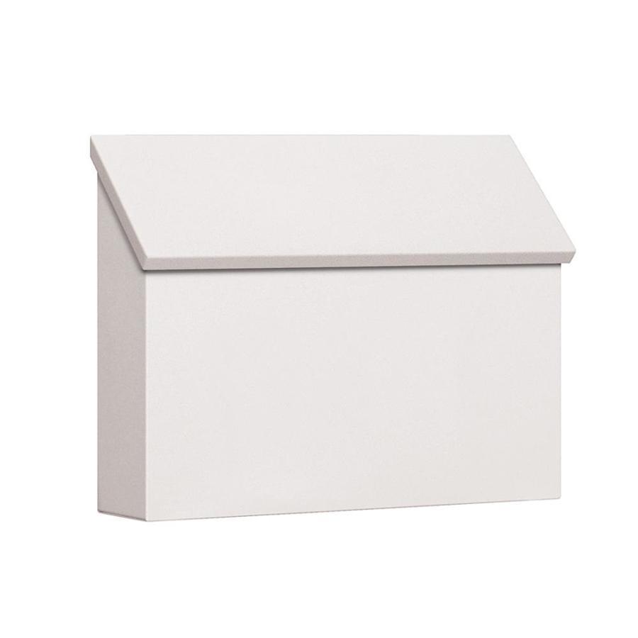SALSBURY INDUSTRIES 4600 Series 14.5-in x 11-in Metal White Post Mount Mailbox