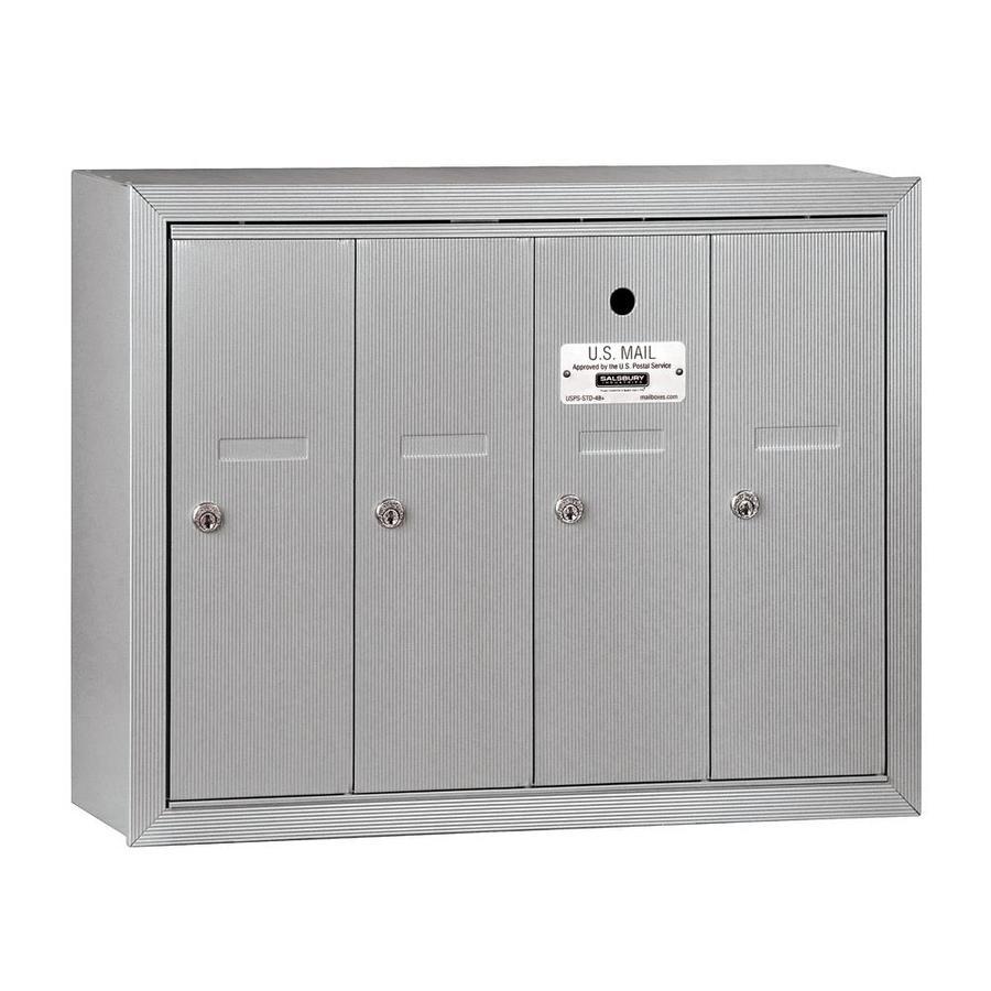 SALSBURY INDUSTRIES 3500 Series 24.25-in x 19-in Metal Aluminum Lockable Wall Mount Cluster Mailbox