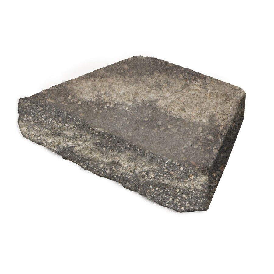 Gray/Charcoal Straight Concrete Retaining Wall Cap (Common: 16-in x 3-in; Actual: 16-in x 3-in)