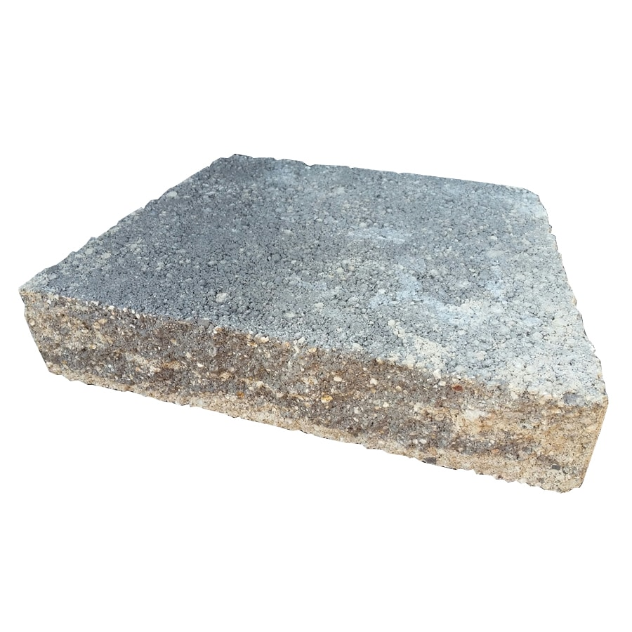 Gray/Charcoal Straight Concrete Retaining Wall Cap (Common: 12-in x 3-in; Actual: 12-in x 2.5-in)