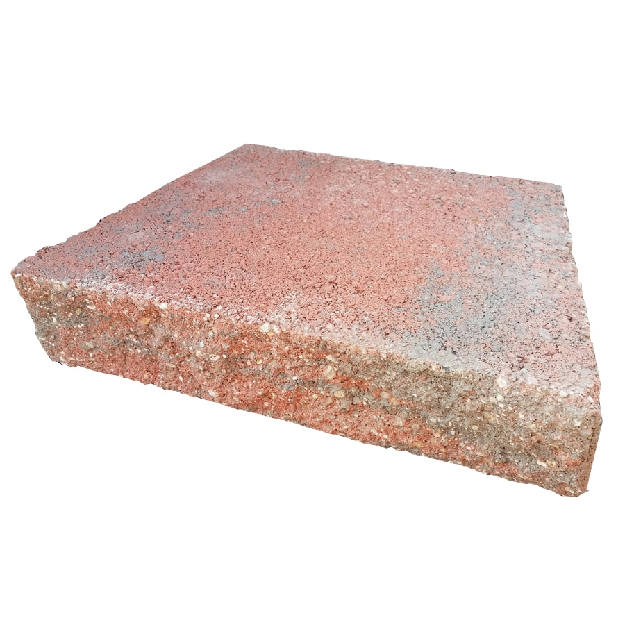 Red/Charcoal Straight Concrete Retaining Wall Cap (Common: 12-in x 3-in; Actual: 12-in x 2.5-in)