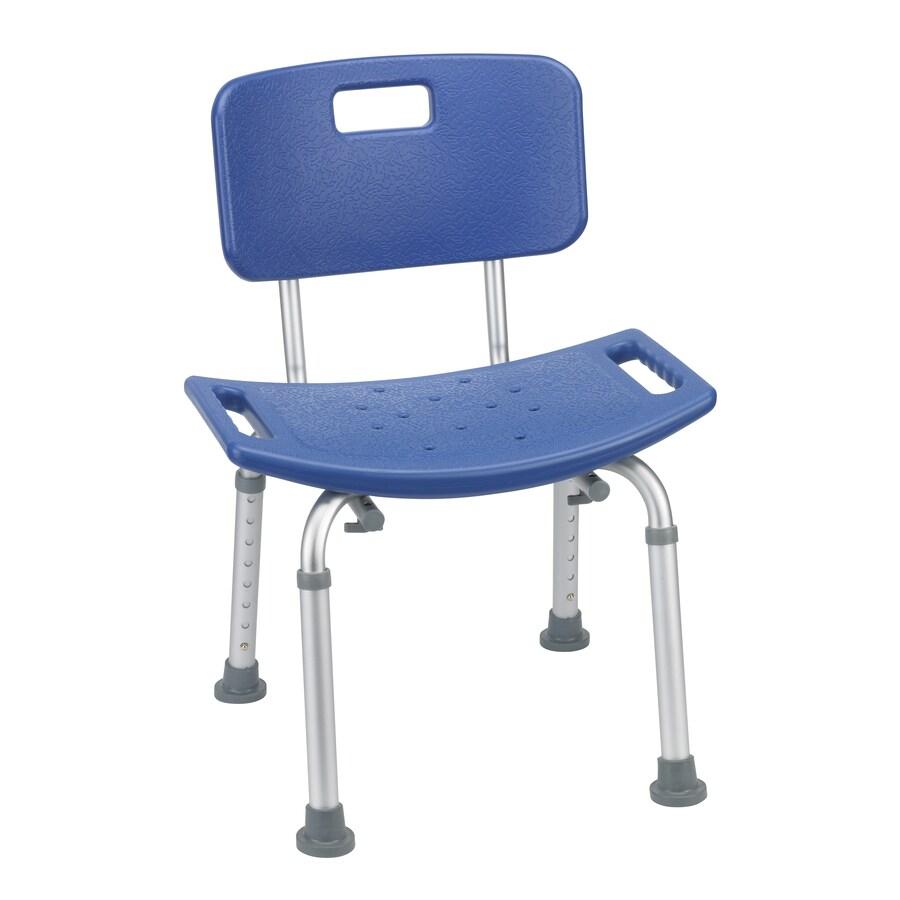 Drive Medical Blue Plastic Freestanding Shower Chair