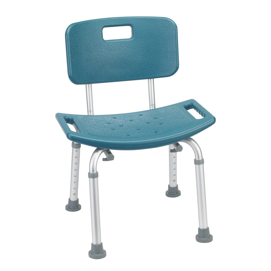 Drive Medical Teal Plastic Freestanding Shower Chair