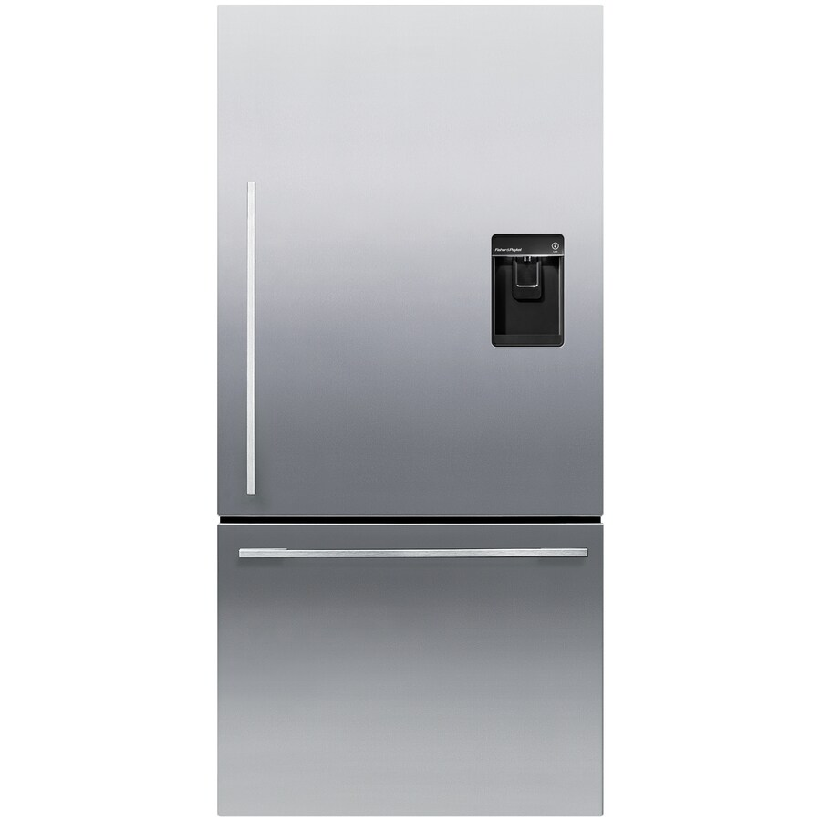 Fisher & Paykel 5 Series 17-cu ft Bottom-Freezer Refrigerator with Single Ice Maker (EZKleen Stainless Steel) ENERGY STAR