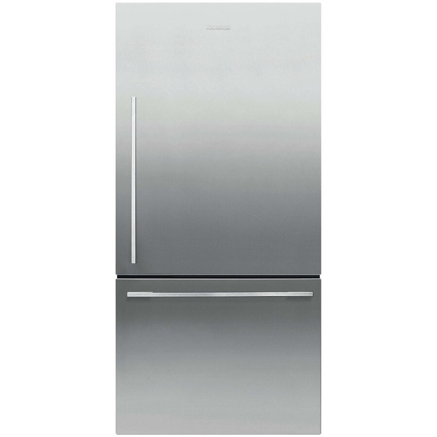 Fisher & Paykel 17.1-cu ft Counter-Depth Bottom-Freezer Refrigerator (Stainless Steel) ENERGY STAR